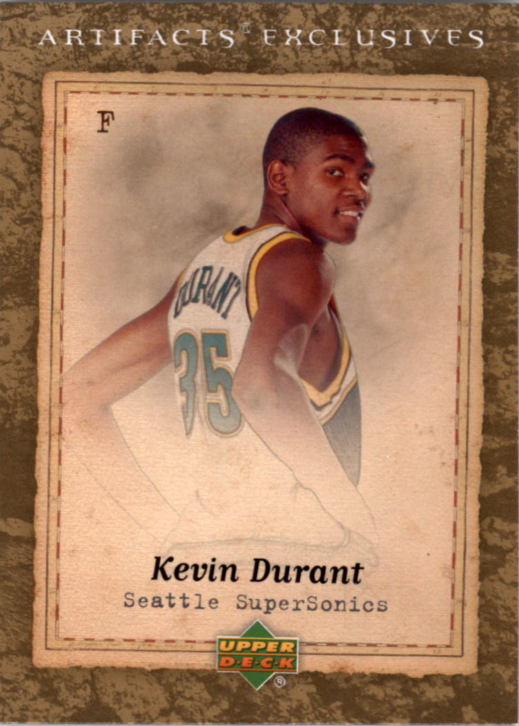 2007-08 Artifacts #227 Kevin Durant Back EX