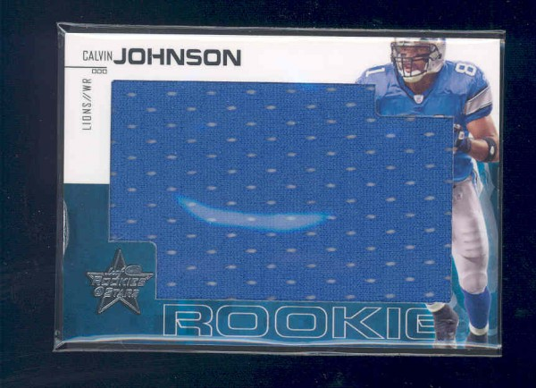 2007 Leaf Rookies and Stars Rookie Jerseys Jumbo Swatch #208 Calvin Johnson