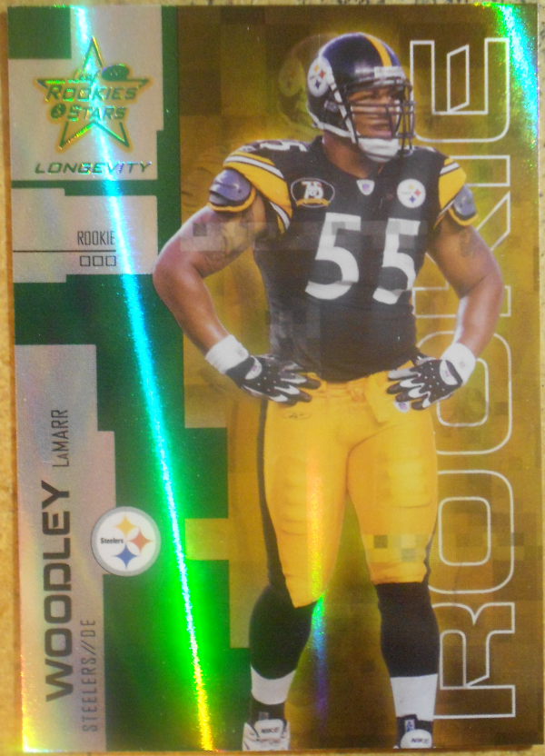 2007 Leaf Rookies and Stars Longevity Emerald #162 LaMarr Woodley
