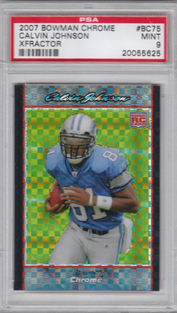 2007 Bowman Chrome Xfractors #75 Calvin Johnson