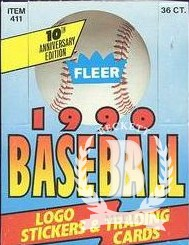 1990 Fleer Baseball Hobby Box