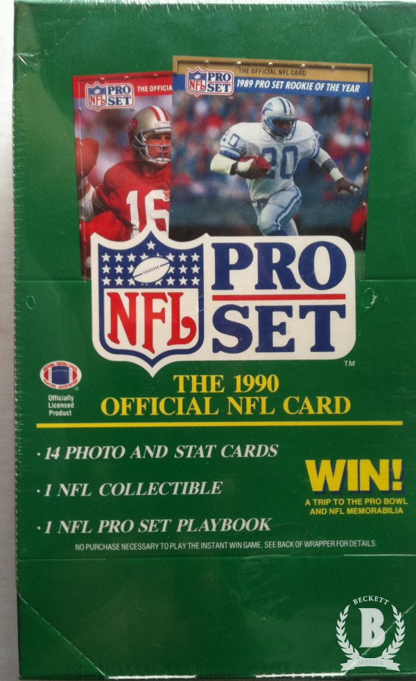 1990 Pro Set Football Hobby Box Series 1