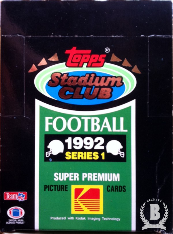 1992 Stadium Club Football Hobby Box Series 1