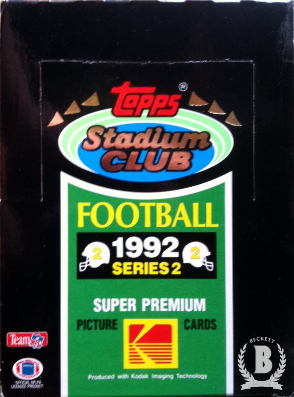 1992 Stadium Club Football Hobby Box Series 2