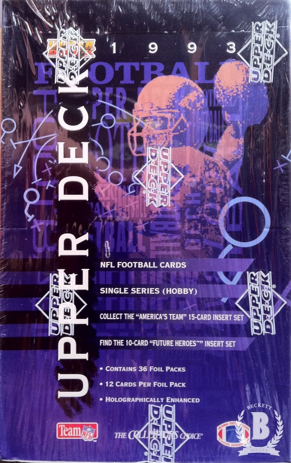 1993 Upper Deck Football Hobby Box