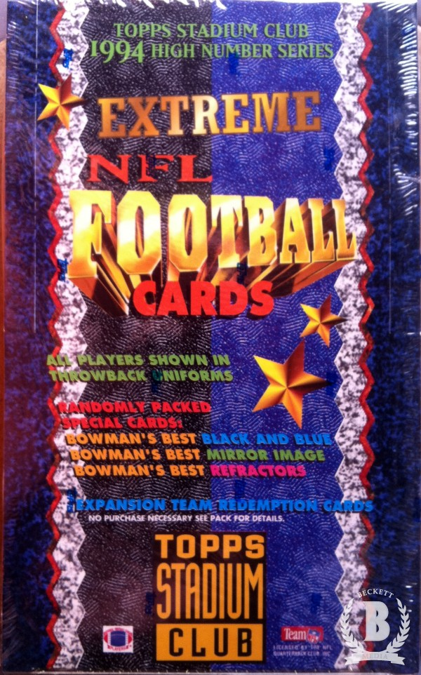 1994 Stadium Club Football Hobby Box Series 3