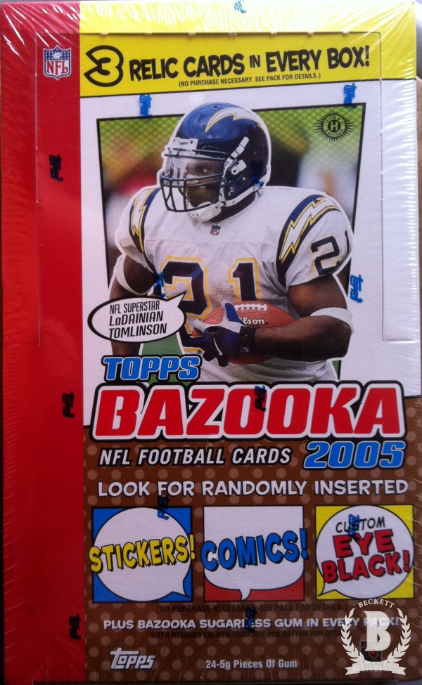 2005 Bazooka Football Hobby Box