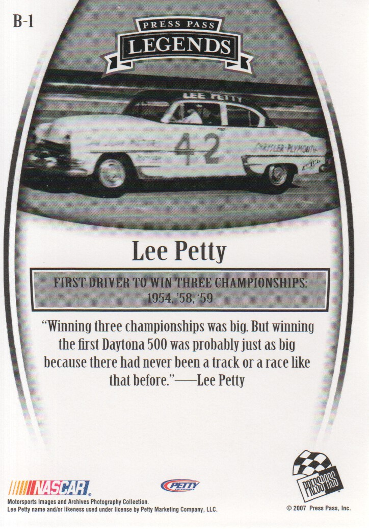 2007-Press-Pass-Legends-Parallels-NASCAR-Racing-Cards-Pick-From-List thumbnail 3
