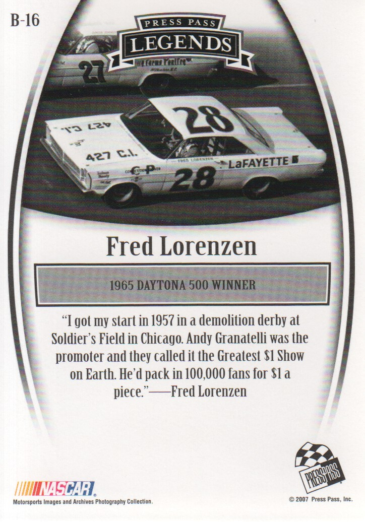 2007-Press-Pass-Legends-Parallels-NASCAR-Racing-Cards-Pick-From-List thumbnail 13