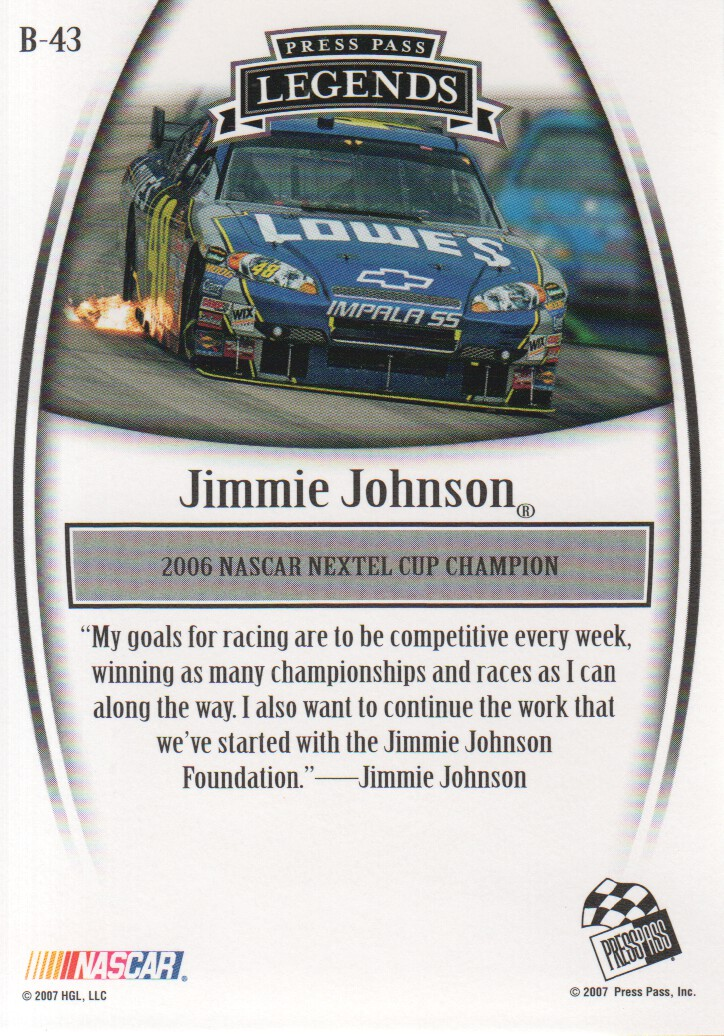2007-Press-Pass-Legends-Parallels-NASCAR-Racing-Cards-Pick-From-List thumbnail 25