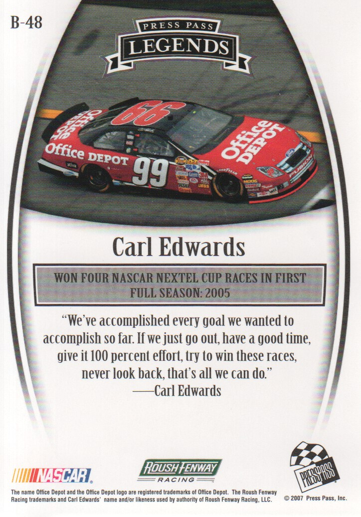 2007-Press-Pass-Legends-Parallels-NASCAR-Racing-Cards-Pick-From-List thumbnail 27