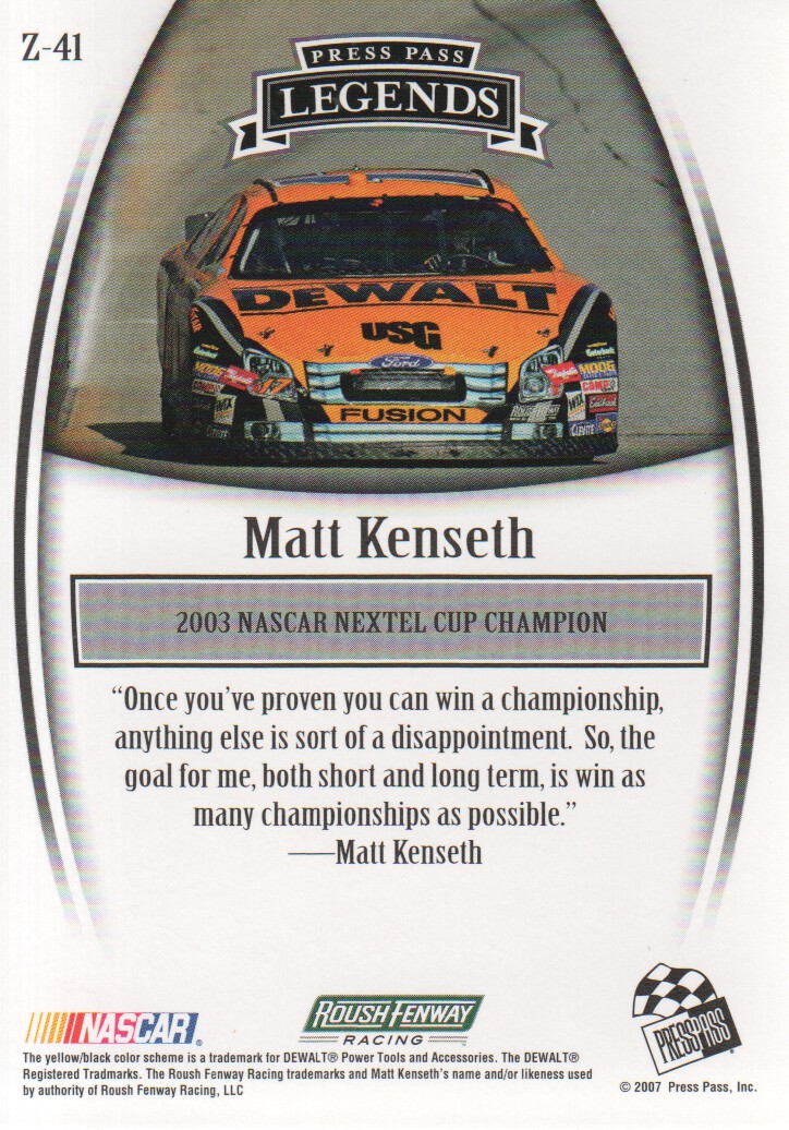 2007-Press-Pass-Legends-Parallels-NASCAR-Racing-Cards-Pick-From-List thumbnail 55