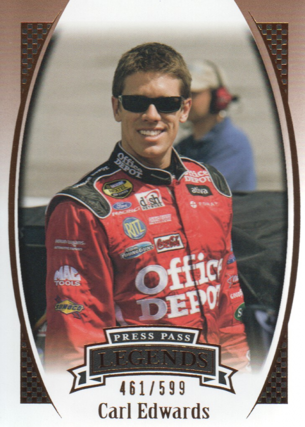 2007 Press Pass Legends Bronze #Z48 Carl Edwards