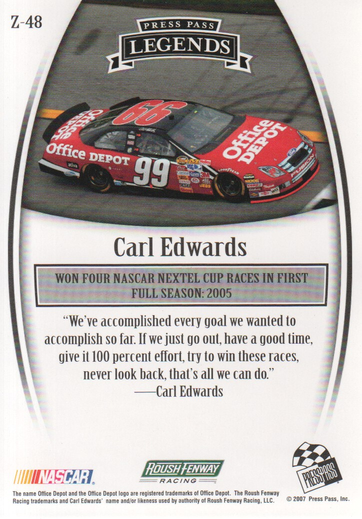 2007-Press-Pass-Legends-Parallels-NASCAR-Racing-Cards-Pick-From-List thumbnail 61