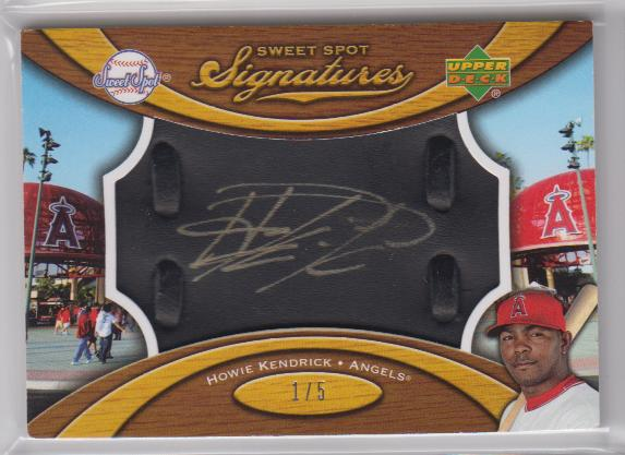 2007 Sweet Spot Signatures Black Glove Leather Gold Ink #HK Howie Kendrick