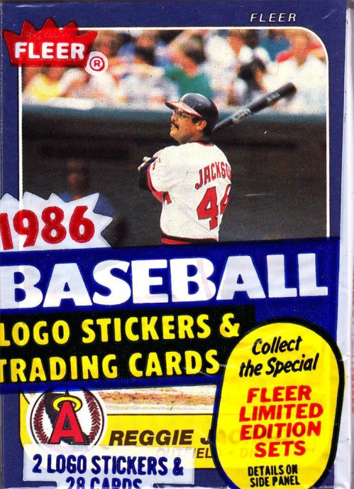 1986 Fleer Baseball Cello Pack