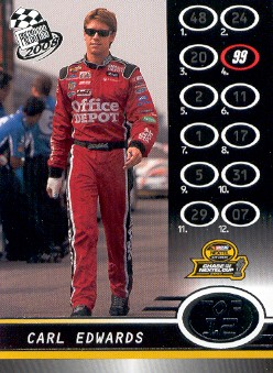 2008 Press Pass #110 Carl Edwards Top 12