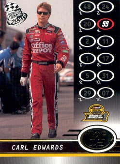 2008 Press Pass Gold #G110 Carl Edwards Top 12