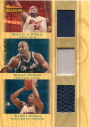 2007-08 Topps Trademark Moves Triple Relics #OHA Shaquille O'Neal/Dwight Howard/Gilbert Arenas