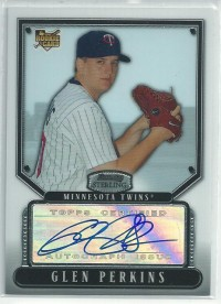2007 Bowman Sterling #GP Glen Perkins AU (RC)