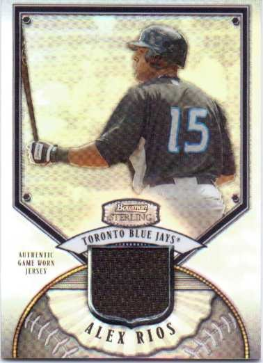 2007 Bowman Sterling Refractors #AR Alex Rios Jsy