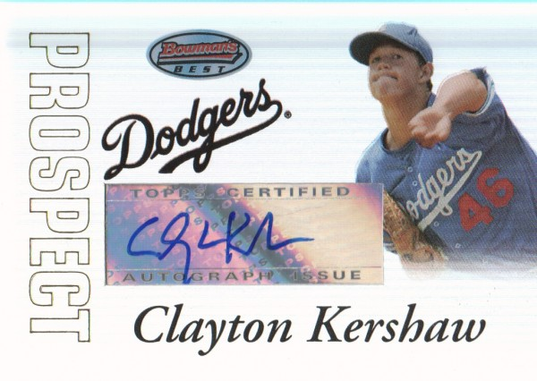 2007 Bowman's Best Prospects #BBP45 Clayton Kershaw AU