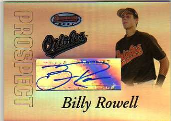2007 Bowman's Best Prospects #BBP48 Billy Rowell AU