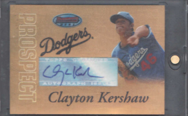 2007 Bowman's Best Prospects Gold #BBP45 Clayton Kershaw AU
