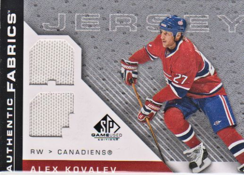 2007-08 SP Game Used Authentic Fabrics #AFAK Alex Kovalev