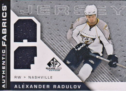 2007-08 SP Game Used Authentic Fabrics #AFAR Alexander Radulov