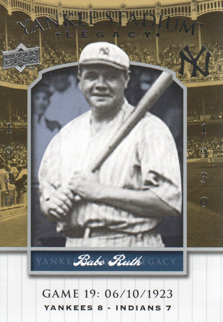 2008 Upper Deck Yankee Stadium Legacy Collection #19 Babe Ruth