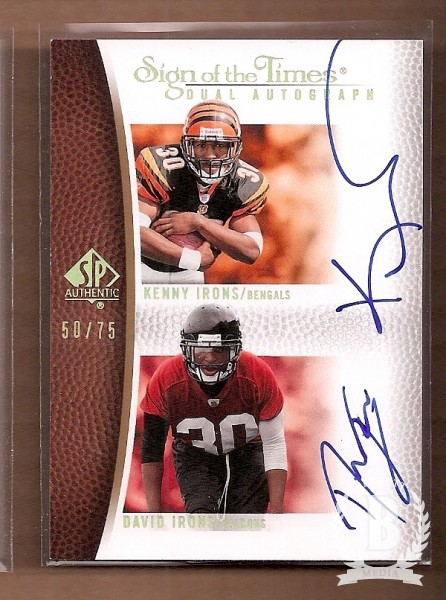 2007 SP Authentic Sign of the Times Duals #II Kenny Irons/David Irons