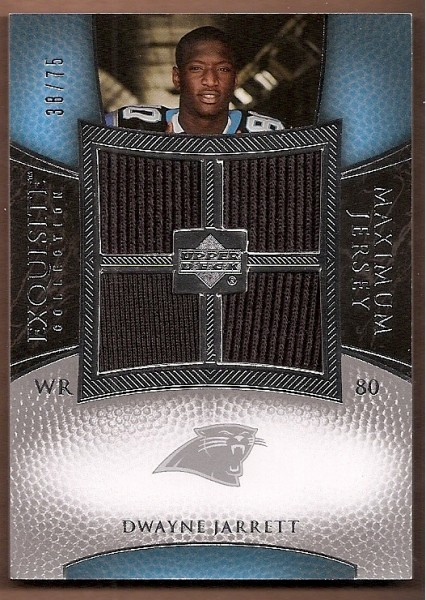 2007 Exquisite Collection Maximum Jersey Silver #DJ2 Dwayne Jarrett