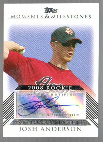 2008 Topps Moments and Milestones Rookie Autographs #JA Josh Anderson