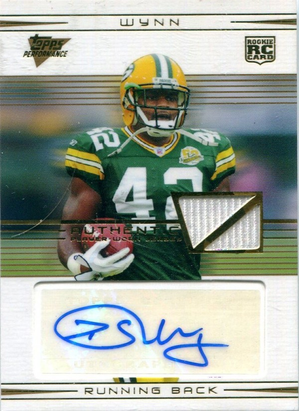 2007 Topps Performance Rookie Autographed Relics Gold #112 DeShawn Wynn