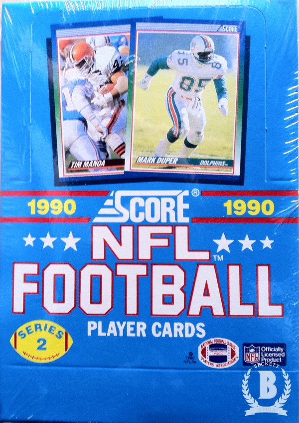 1990 Score Football Hobby Box Series 2