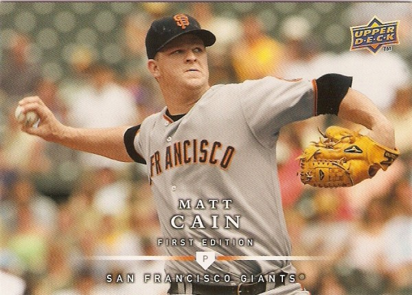 2008 Upper Deck First Edition #91 Matt Cain