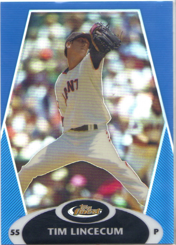 2008 Finest Refractors Blue #7 Tim Lincecum