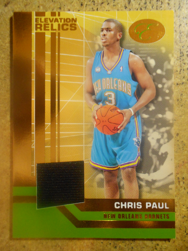 2007-08 Bowman Elevation Relics Gold #CP Chris Paul