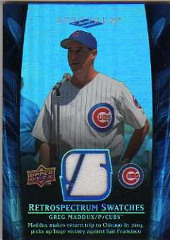 2008 Upper Deck Spectrum Retrospectrum Swatches #GM1 Greg Maddux