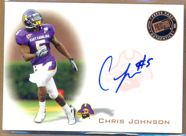 2008 Press Pass Autographs Bronze #PPSCJ2 Chris Johnson