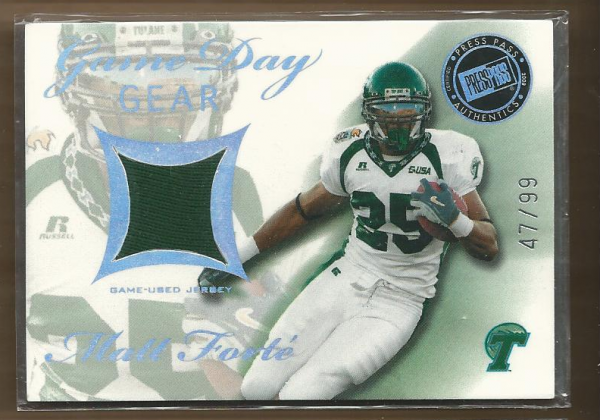 2008 Press Pass SE Game Day Gear Jerseys Holofoil #GDGMF Matt Forte