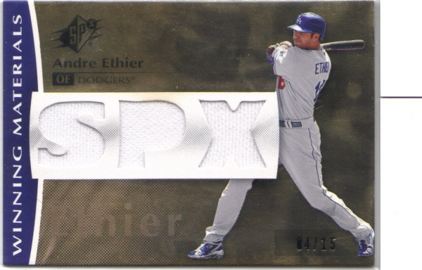 2008 SPx Winning Materials Triple SPx 15 #AE Andre Ethier