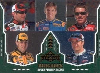 2008 Press Pass Stealth Chrome #70 Greg Biffle/Jamie McMurray/Carl Edwards/Matt Kenseth/David Ragan