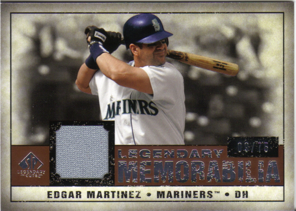 2008 SP Legendary Cuts Legendary Memorabilia 75 #MA Edgar Martinez