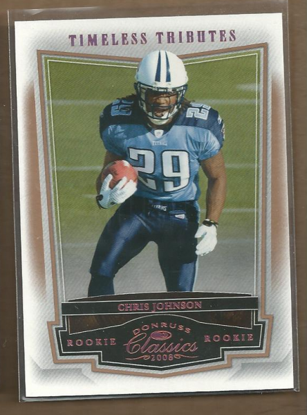 2008 Donruss Classics Timeless Tributes Bronze #230 Chris Johnson