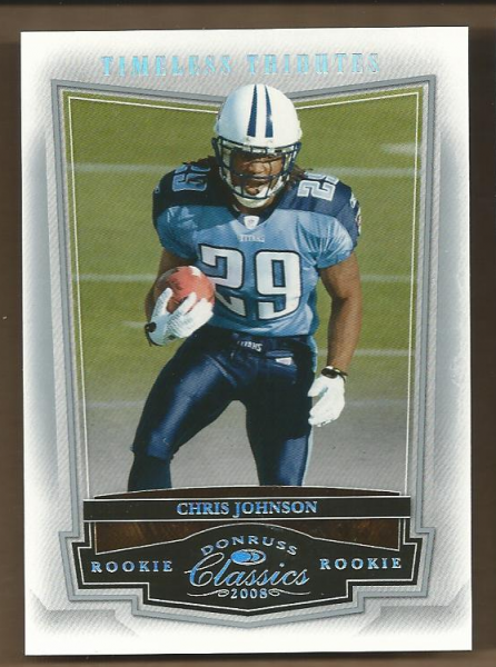 2008 Donruss Classics Timeless Tributes Silver #230 Chris Johnson