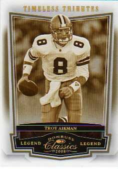 2008 Donruss Classics Timeless Tributes Gold #129 Troy Aikman