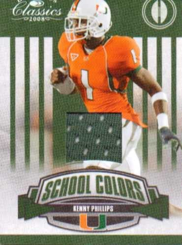 2008 Donruss Classics School Colors Jerseys #23 Kenny Phillips