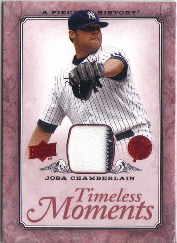 2008 UD A Piece of History Timeless Moments Jersey #34 Joba Chamberlain